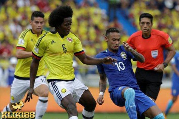 Kolombia Harus Puas Berbagi Poin Kala Menjamu Brasil