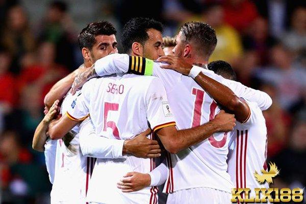 Spanyol Cukur Habis Liechtenstein di Rheinpark Stadium