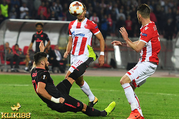 Gol Tunggal Giround Bawa Arsenal Kandaskan Red Star Belgrade