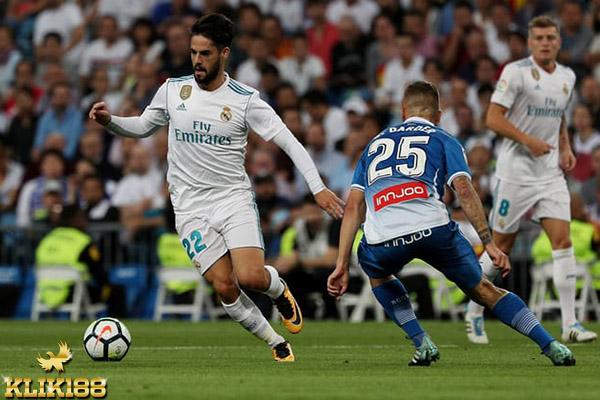 Isco Borong Dua Gol Kemenangan Real Madrid Atas Espanyol
